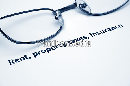 rent property taxes insurance