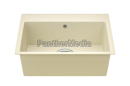 beige composite sink