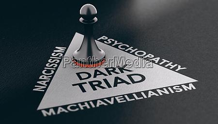psychology concept dark triad anti social