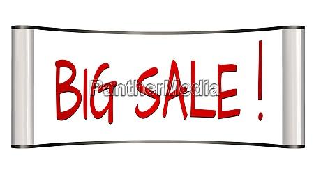 big sale lettering on billboard