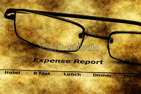 expense report grunge concept