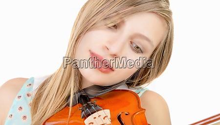 blond teenage girl with long hair