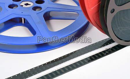 16mm movie files with films reels