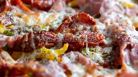 close up of delicious homemade pizza