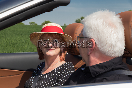 two happy elderly people in a