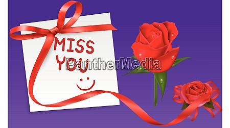 miss you note for a girl