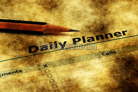 daily planner grunge concept