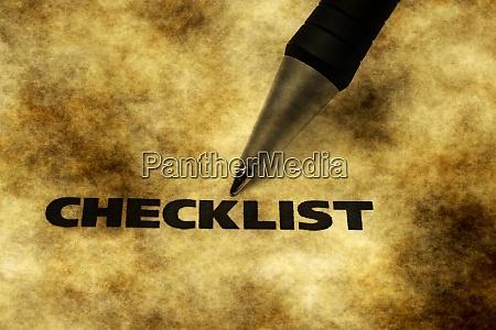 checklist grunge concept