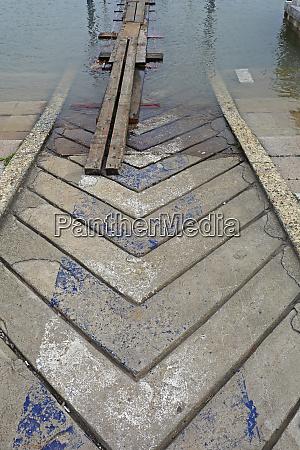 planks bridge flood