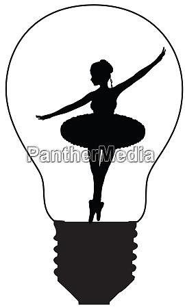 a retro girl dancing in a