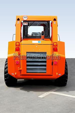small digger rear