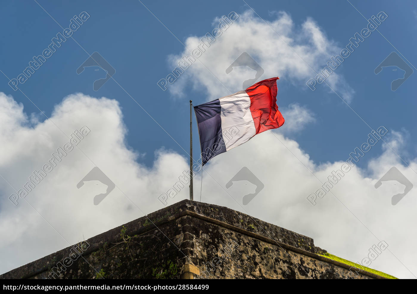 french, flag, on, a, top, of - 28584499