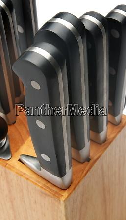 set of knives