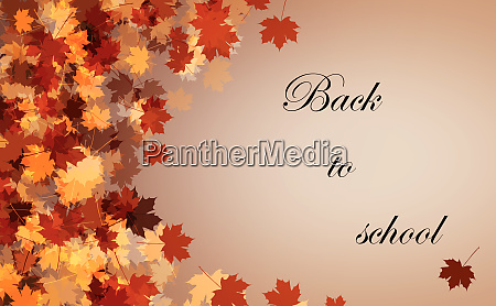 back to school autumn background with