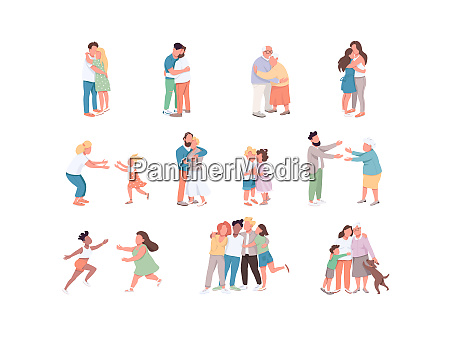 diversity flat color vector faceless characters