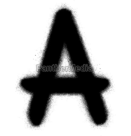 sprayed a font graffiti in black