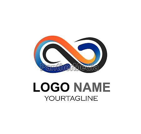 infinity design infinity logo vector icon