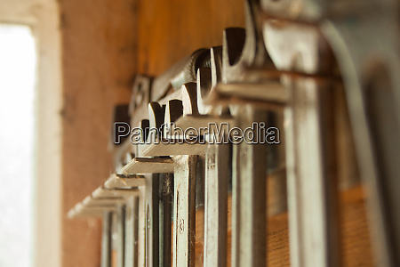 wrenches in a row