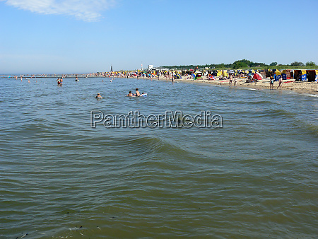 nord sea beach in cuxhaven