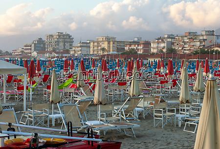 a deserted beach in lido di