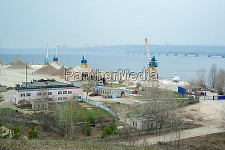 dock cranes river