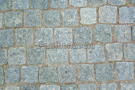 old aged granite paving stones
