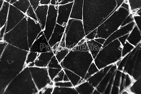 broken glass texture abstract of cracked
