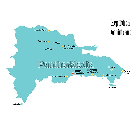 vector map of the dominican republic