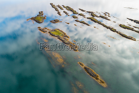 aerial view of small islands in