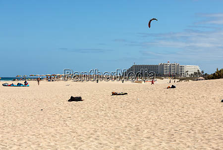 kite surfer in the beaches of