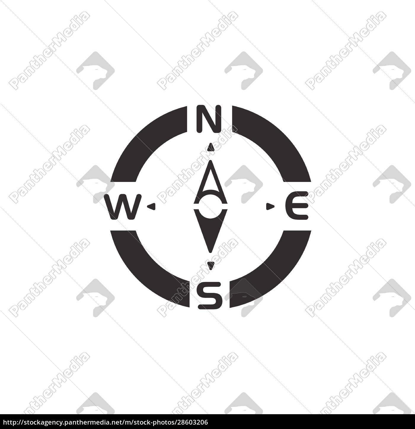 compass., south, direction., icon., weather, and - 28603206