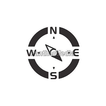 compass., south, east, direction., icon., weather - 28603207