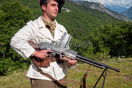 french mountain infantry soldier during the