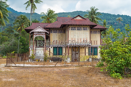 old house in historical style on