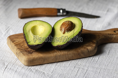 halves of avocado