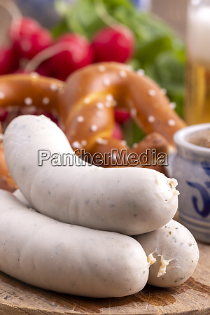 bavarian, white, sausages - 28607263