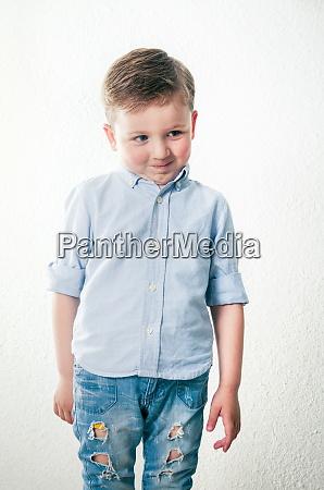 funny little boy portrait