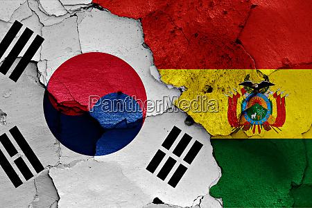 flags of south korea and bolivia