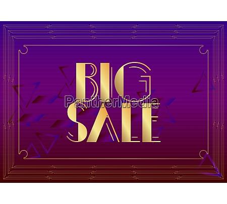 art deco big sale text