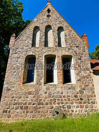 early gothic church building from the