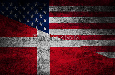 country relations flags on textured background