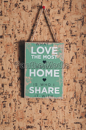 home sharing sign closeup
