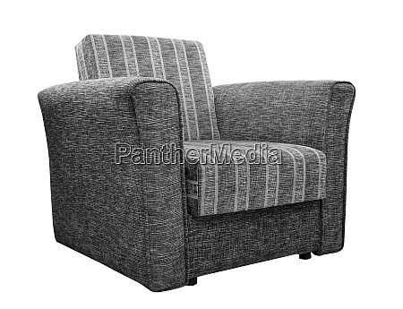 vintage soft armchair isolated on white