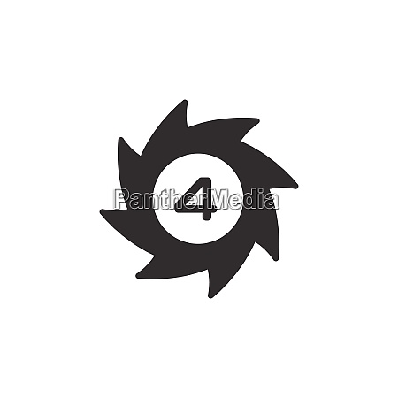 hurricane category four fourth rate icon
