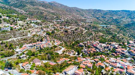 aerial kyperounda village limassol cyprus