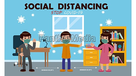 keep social distance from everyone to