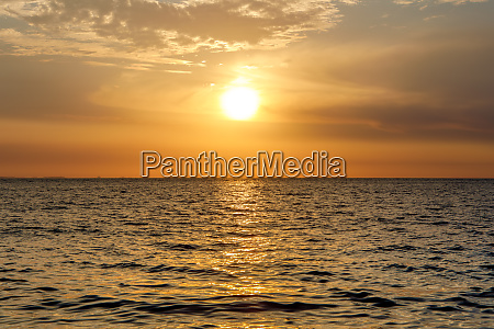 sunset on nosy be island in