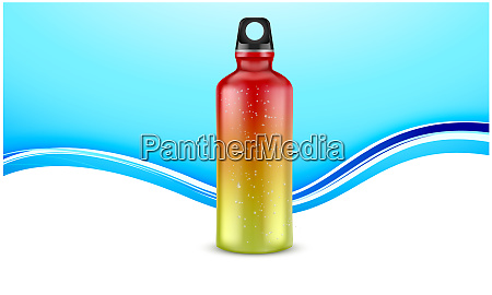 mock up illustration of sports water
