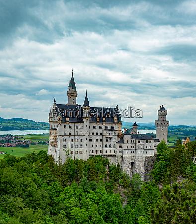 famous neuschwanstein castle in bavaria germany
