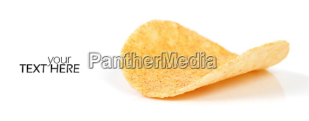 potato crisps with copy space